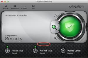 Stadisticas Kaspersky para mac