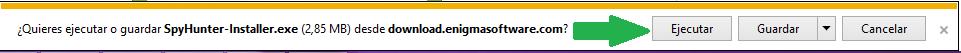 Un ejemplo como se descarga un antivirus con Internet Explorer.