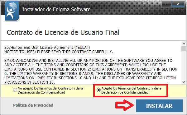 Licencia de la instalador.